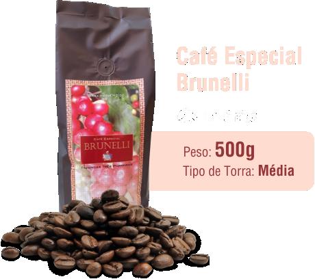 Café Especial Brunelli em Grãos 500g